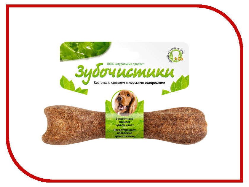 Корм Зубочистики Косточка жевательная Морские водоросли 95г для собак средних пород 10-25 кг 54943<br>