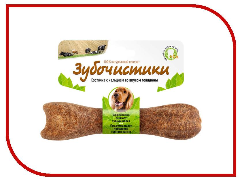Корм Зубочистики Косточка жевательная Говядина 95г для собак средних пород 10-25 кг 54944