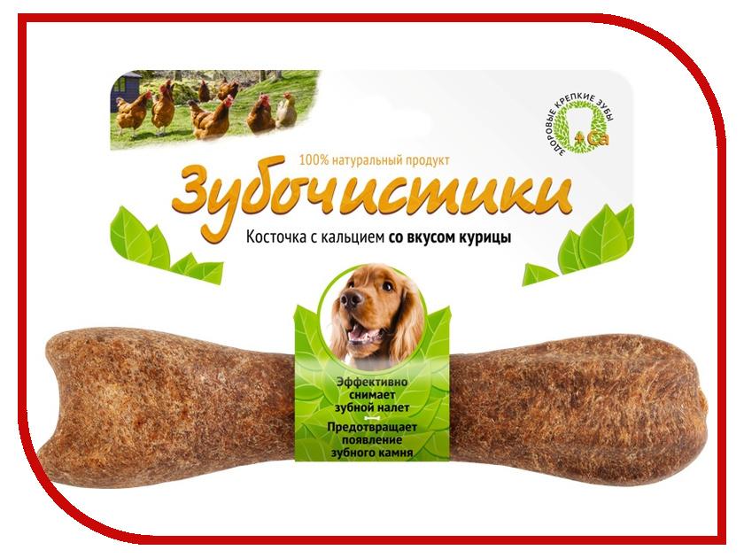 Корм Зубочистики Косточка жевательная Курица 95г для собак средних пород 10-25 кг 54945