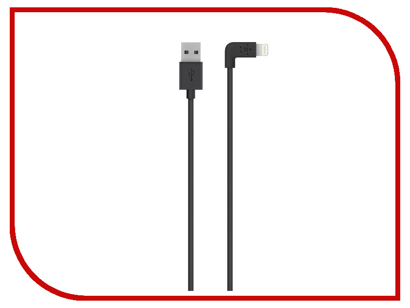 Аксессуар Belkin Mixit Lightning to USB 1.2m Black F8J147BT04BLK<br>