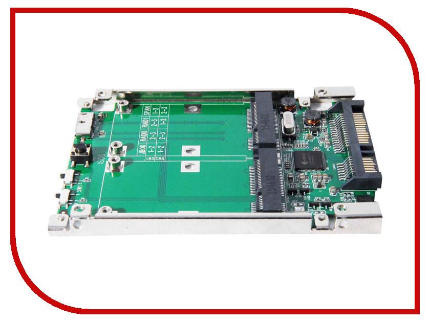 Аксессуар Espada SATA6G/USB3.0 - 2xmSATA 2MSSU/SS12RAID<br>