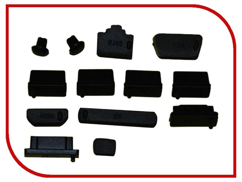 Аксессуар Espada IEEE1394 Заглушки для портов USB/VGA/HDMI/Audio/SD/eSata/RJ45 Black цена