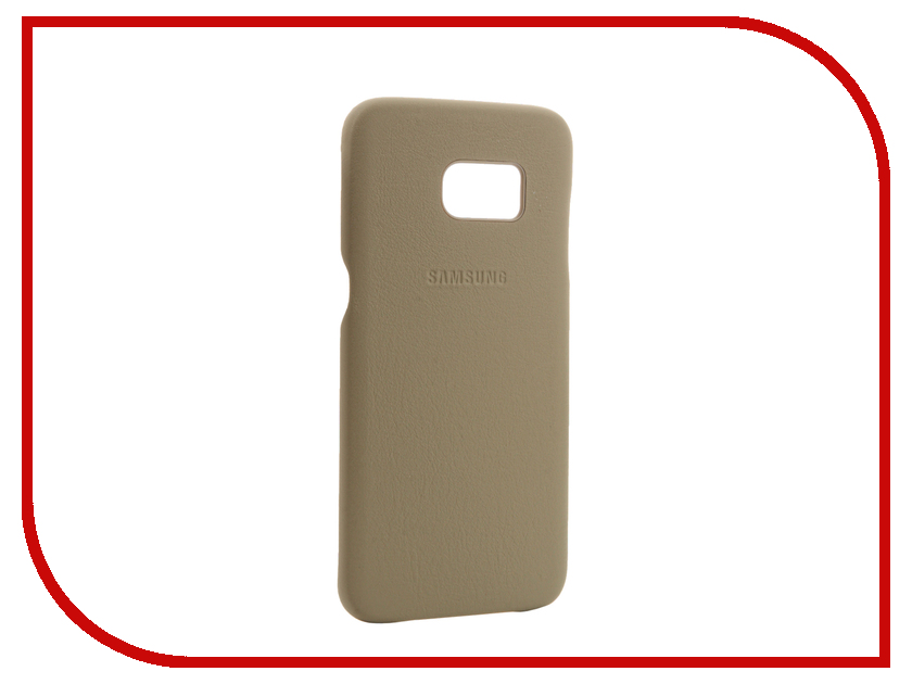 Аксессуар Чехол Samsung Galaxy S7 Edge Leather Cover Beige EF-VG935LUEGRU<br>