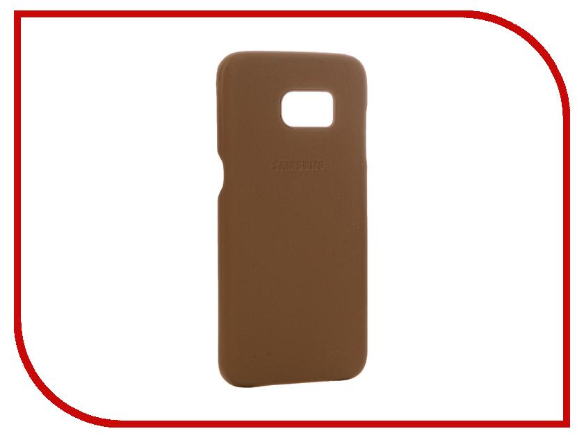 Аксессуар Чехол Samsung Galaxy S7 Edge Leather Cover Brown EF-VG935LDEGRU<br>