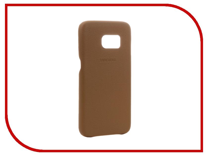 Аксессуар Чехол Samsung Galaxy S7 Leather Cover Brown EF-VG930LDEGRU<br>