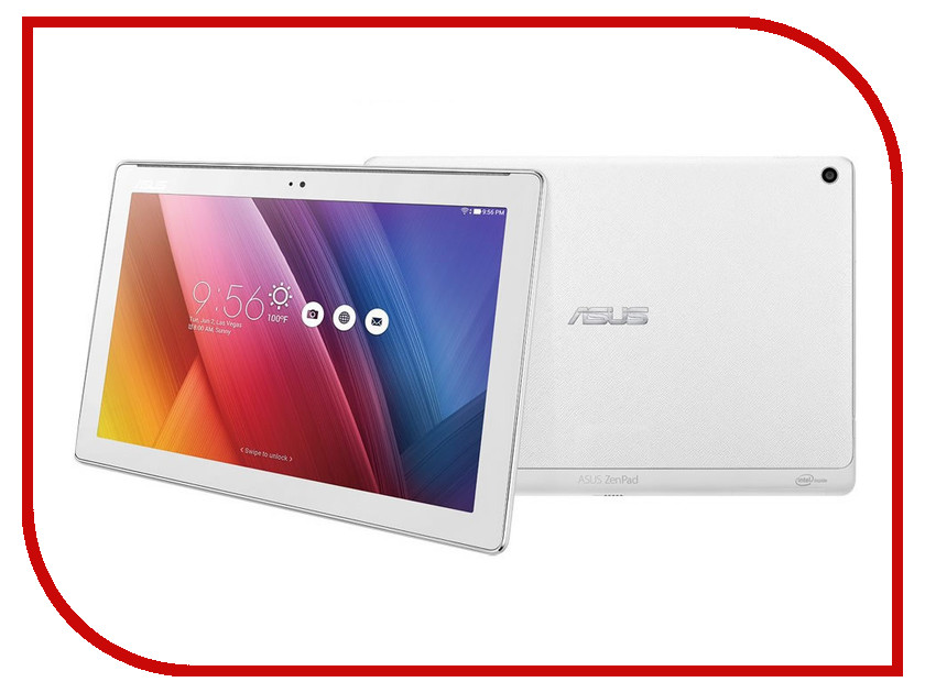 Планшет ASUS ZenPad 10 Z300C-1B100A White 90NP0233-M04200 Intel Atom x3-C3200 1.2 Ghz/1024MB/8Gb/Wi-Fi/Bluetooth/Cam/10.1/1280x800/Android<br>