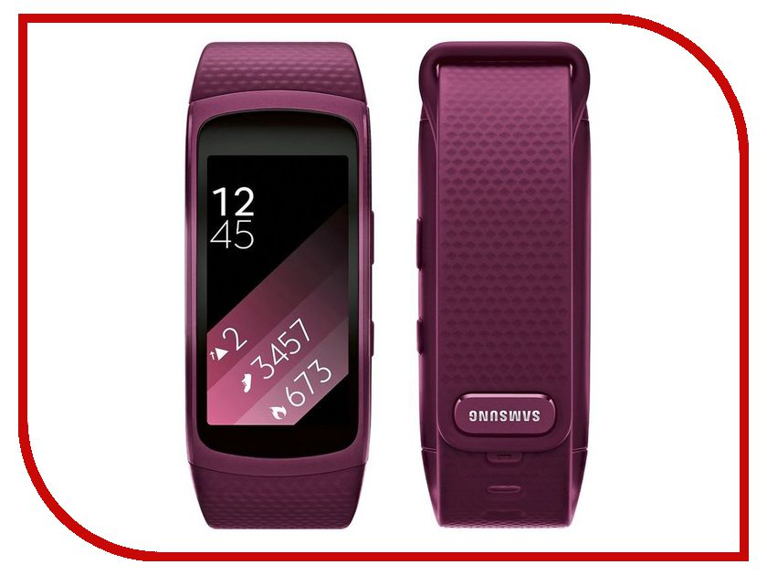 Умный браслет Samsung Gear Fit 2 SM-R3600 SM-R3600ZIASER Pink