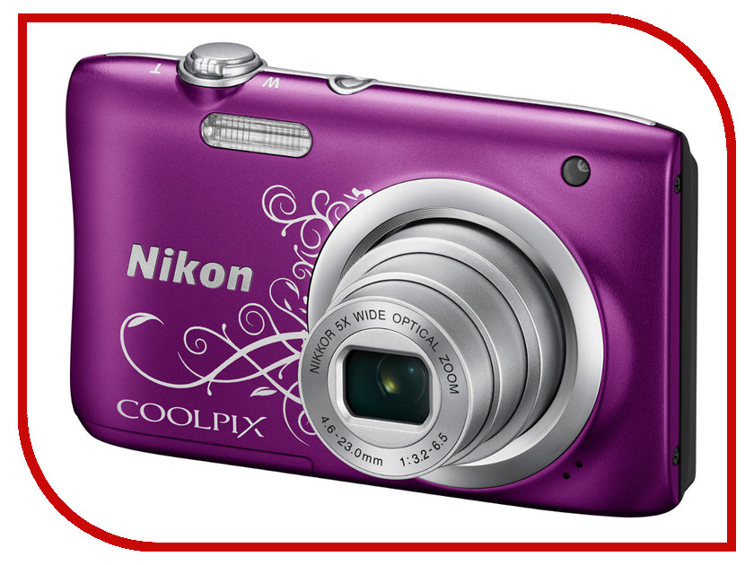 Фотоаппарат Nikon Coolpix A100 Purple Lineart national geographic ng w2400