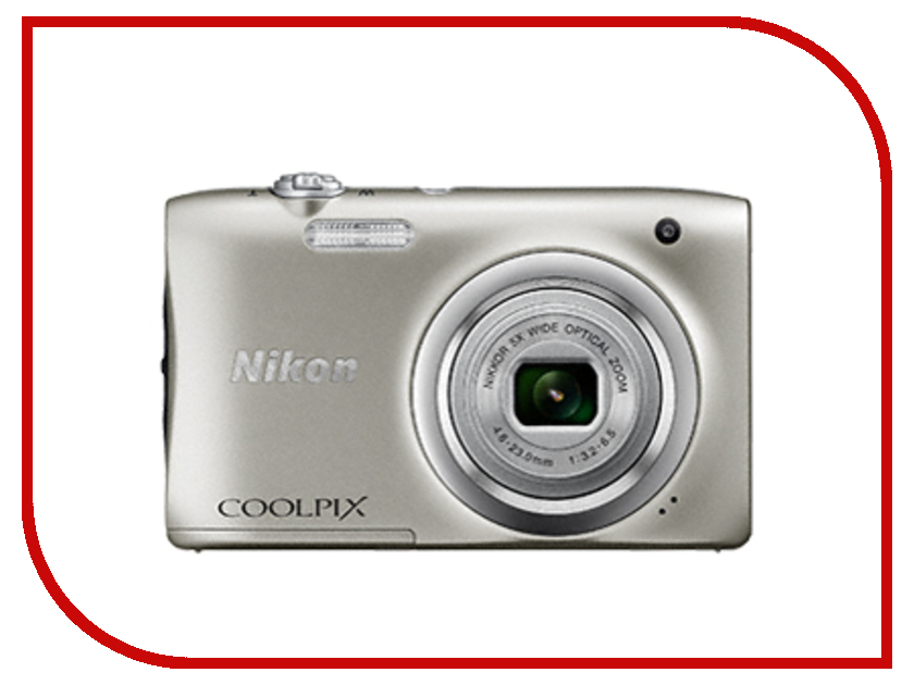 Фотоаппарат Nikon Coolpix A100 Silver фотоаппарат nikon coolpix a100 20mp 5x zoom серебристый