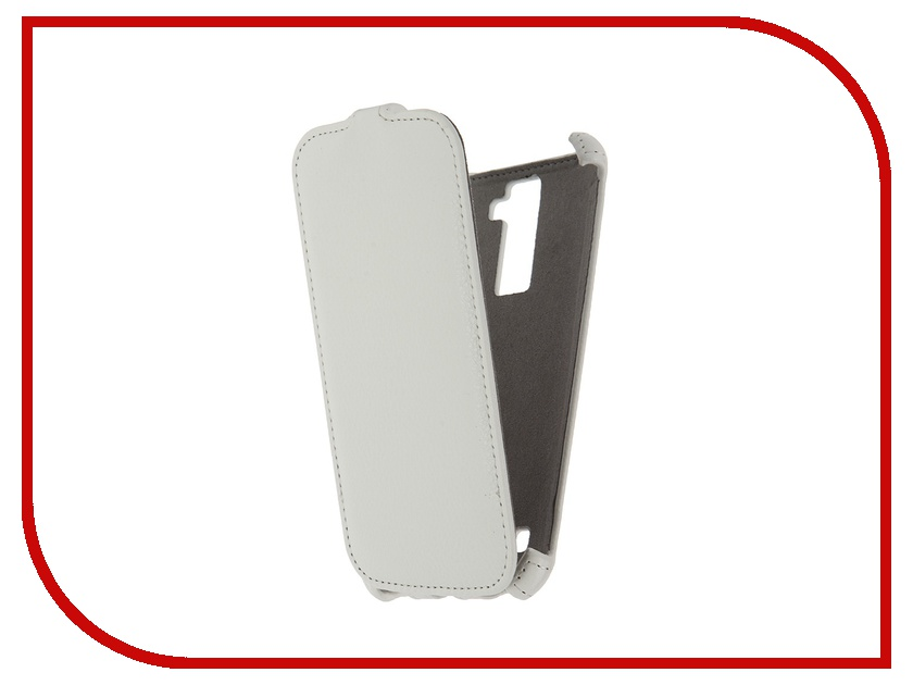 Аксессуар Чехол LG K10 K410 Activ Flip Case Leather White 57474<br>
