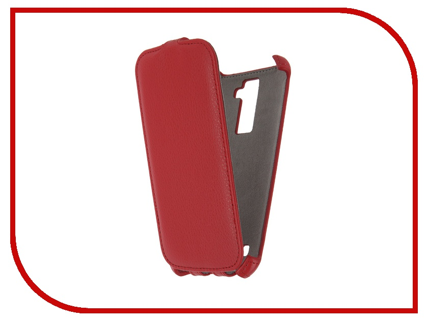 Аксессуар Чехол LG K10 K420 Activ Flip Case Leather Red 57473<br>