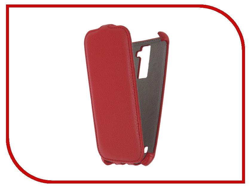 Аксессуар Чехол LG K10 K410 Activ Flip Case Leather Red 57472<br>
