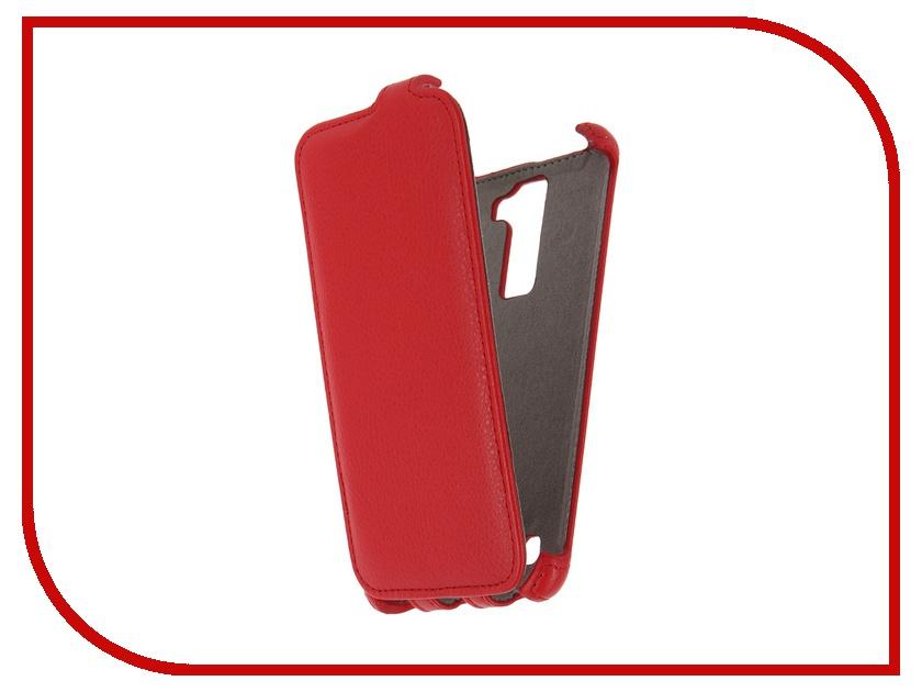 Аксессуар Чехол LG K7 X210 Activ Flip Case Leather Red 57478<br>