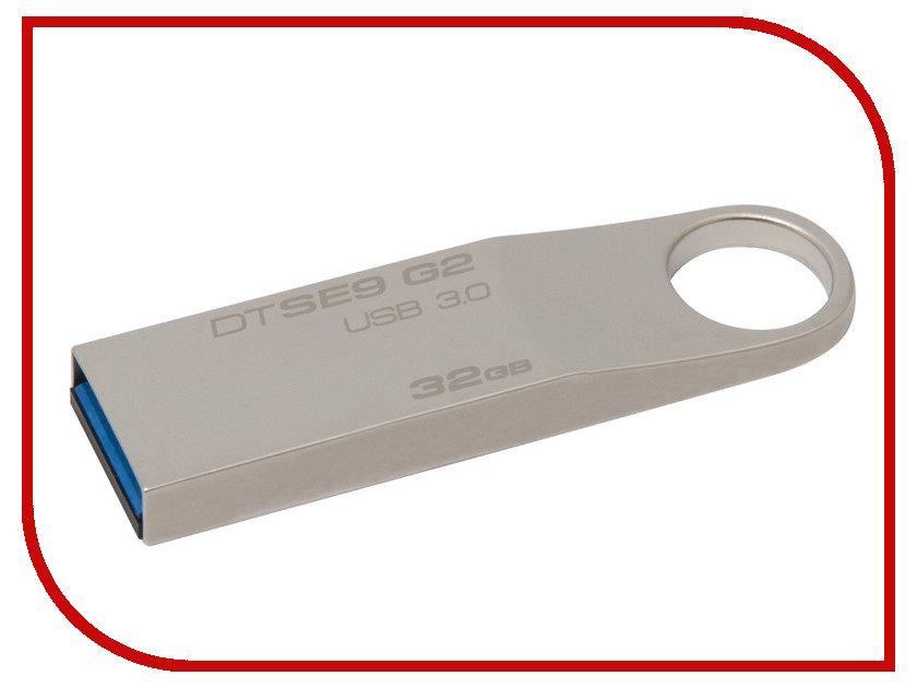 USB Flash Drive 32Gb - Kingston DataTraveler SE9 G2 USB 3.0 Metal DTSE9G2/32GB<br>