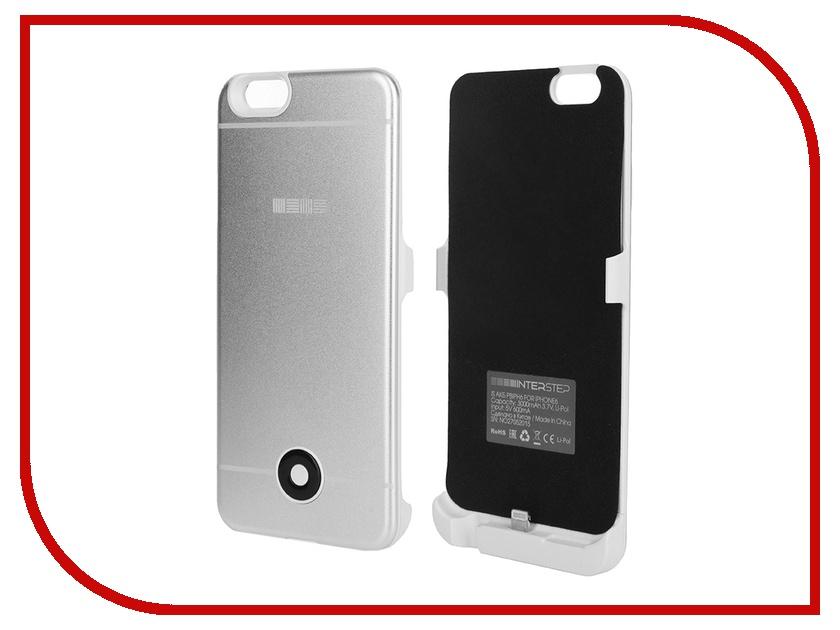 Аксессуар Чехол-аккумулятор InterStep 3000 mAh для APPLE iPhone 6/6S Silver 40372<br>