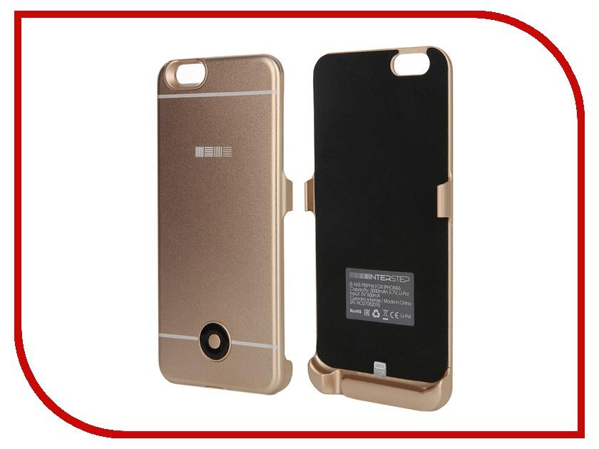 Аксессуар Чехол-аккумулятор InterStep 3000 mAh для APPLE iPhone 6/6S Gold 40371<br>