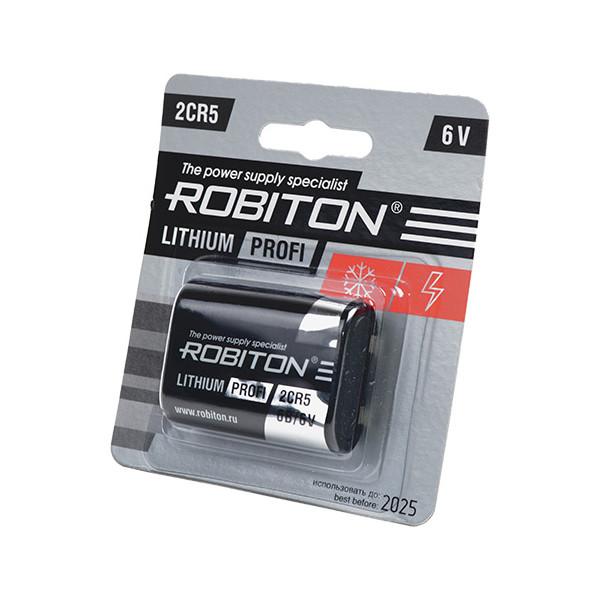Фото - Батарейка 2CR5 - Robiton Profi R-2CR5-BL1 13261 элемент питания robiton profi 2cr5 блистер 1шт