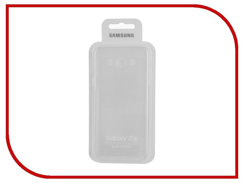Аксессуар Чехол Samsung Galaxy J7 2016 Slim Cover Transparent EF-AJ710CTEGRU<br>