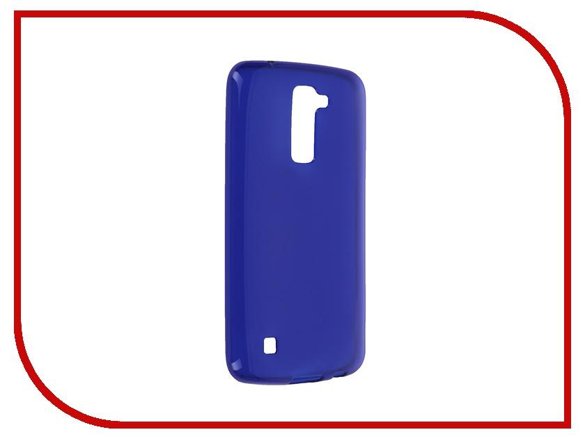 Аксессуар Чехол LG K10 iBox Crystal Blue