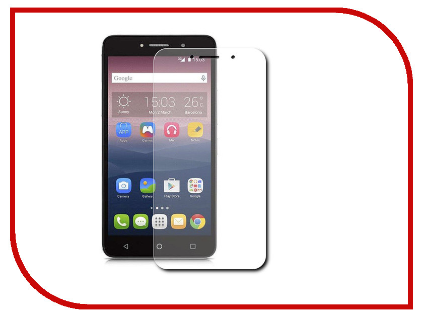 Аксессуар Защитная пленка Alcatel OneTouch 8050D Pixi 4 LuxCase суперпрозрачная 51375<br>