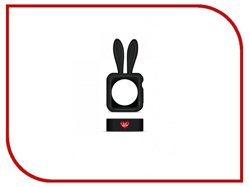 Аксессуар Чехол APPLE Watch 38mm Bling My Thing Honey Bunny Swarovski Black aw-bump-bk-lsm<br>