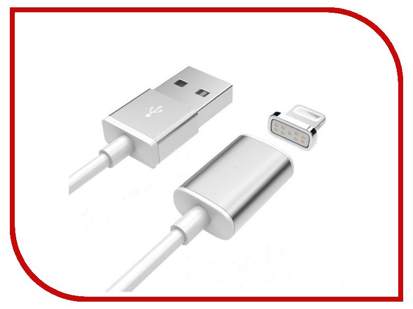 Аксессуар Activ USB - Lightning Magnetic 100cm Silver 58473<br>