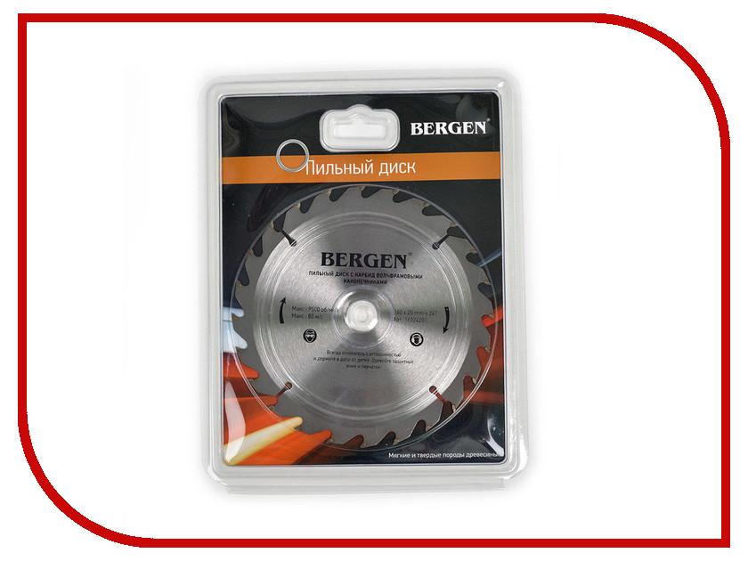 Диск BERGEN 160x24Tx20/16mm 16024201 пильный, по дереву, ДСП, ДВП и МДФ