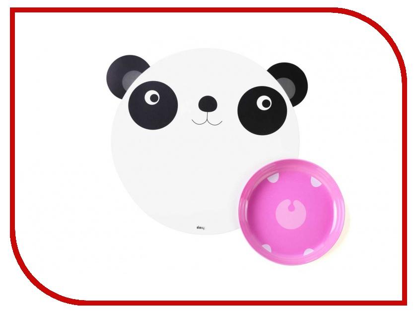 Гаджет Doiy Hungry Panda - коврик + миска DYHUNMAPA<br>