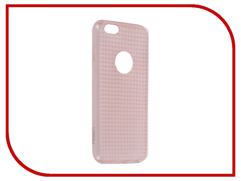 Аксессуар Чехол ROCK Fla Series для APPLE iPhone 6/6S 4.7 Transparent-Pink<br>