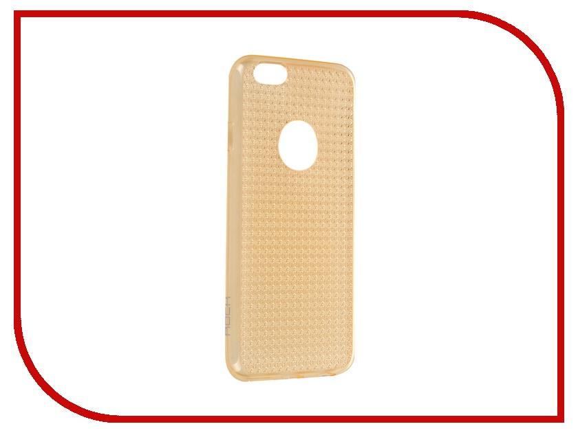 Аксессуар Чехол ROCK Fla Series для APPLE iPhone 6/6S 4.7 Transparent-Gold<br>