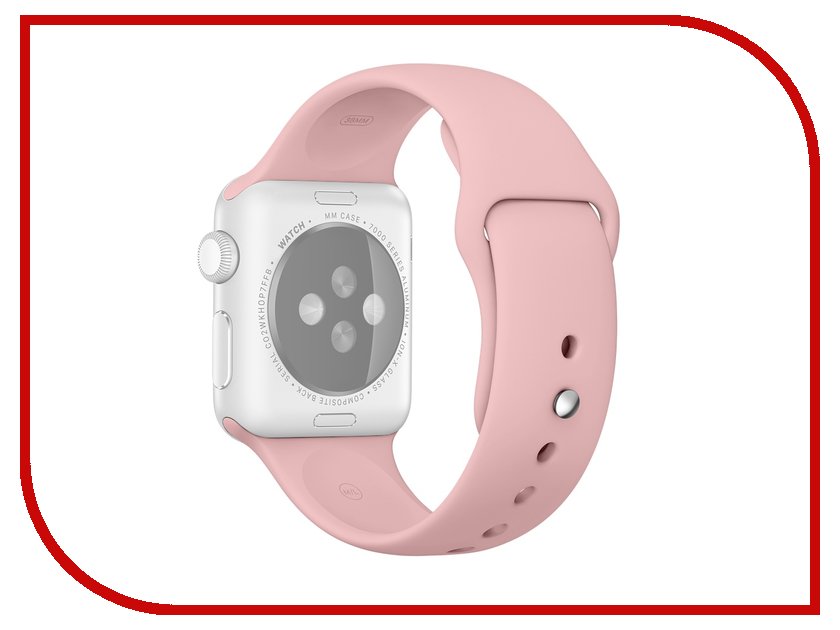Аксессуар Ремешок Rock APPLE Watch 42mm Sport Band Pink аксессуар браслет apple watch 42mm apres m l pink sand