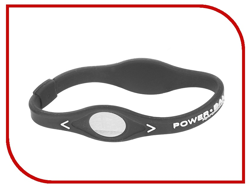 Браслет POWER BALANCE S Grey Coll White/Silver<br>