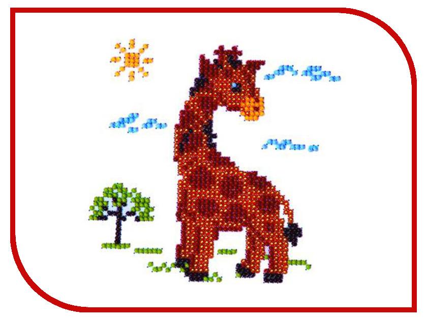 Набор для творчества Бисеринка Жираф для вышивания бисером Б-0008<br>
