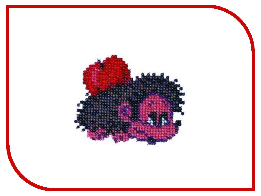 Набор для творчества Бисеринка Ежик для вышивания бисером Б-0009