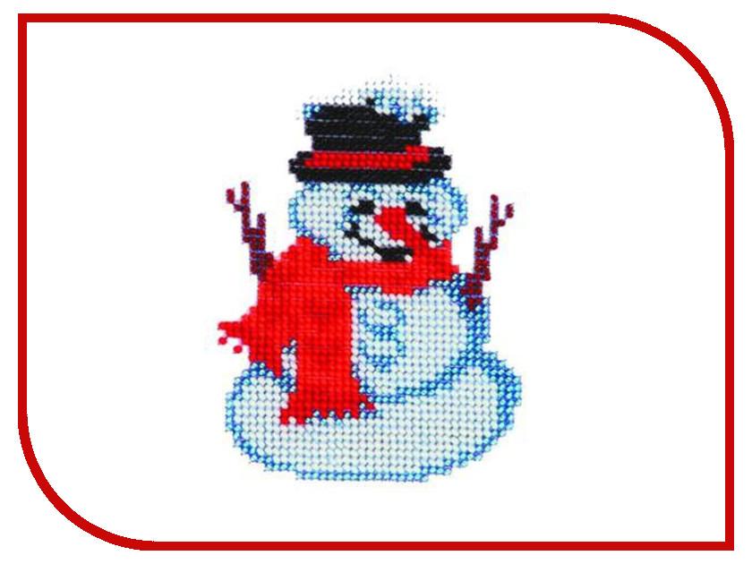 Набор для творчества Бисеринка Снеговик для вышивания бисером Б-0036