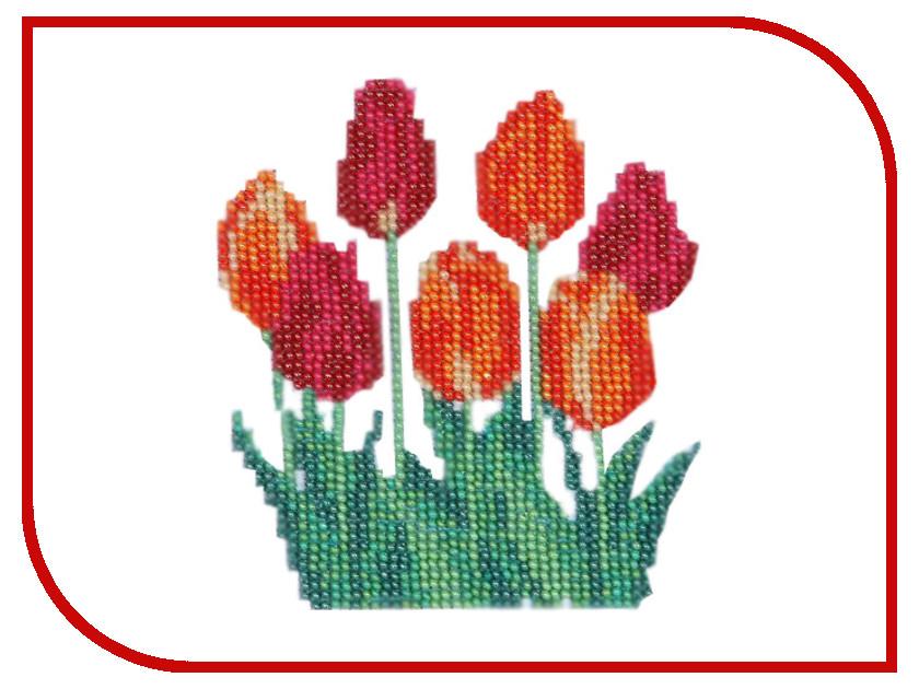 Набор для творчества Бисеринка Тюльпаны для вышивания бисером Б-0061