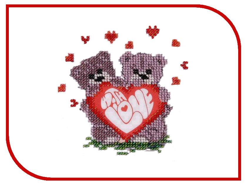Набор для творчества Бисеринка Валентинка для вышивания бисером Б-0075