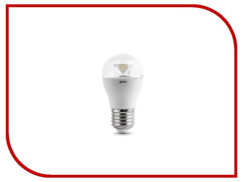 Лампочка Gauss LED Globe-dim Crystal Clear 6W E27 4100K 105202206-D лампочка gauss led globe crystal clear 4w e27 2700k 105202104
