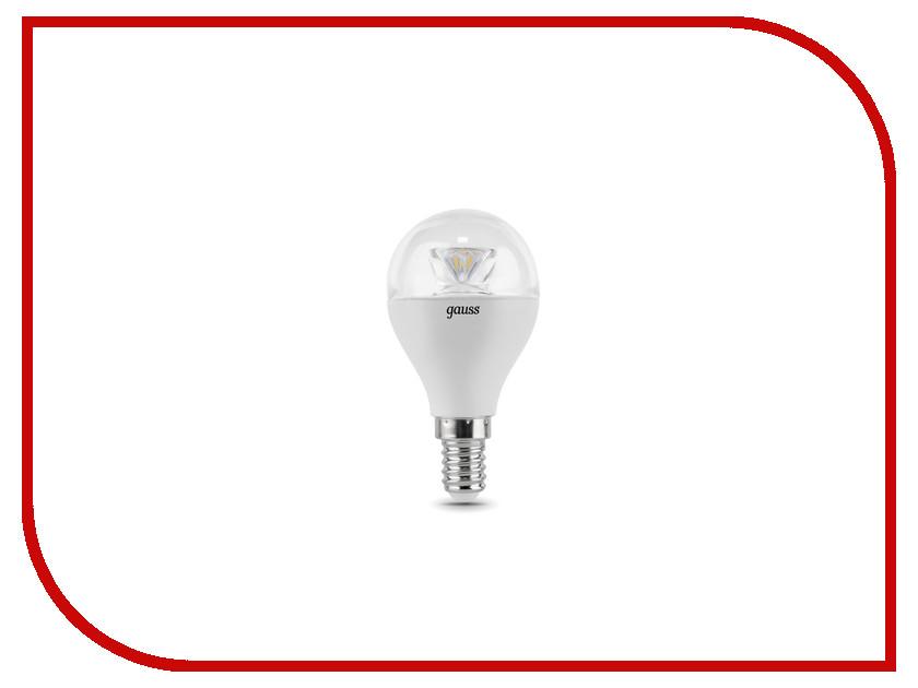 Лампочка Gauss LED Globe-dim Crystal Clear 6W E14 2700K 105201106-D<br>