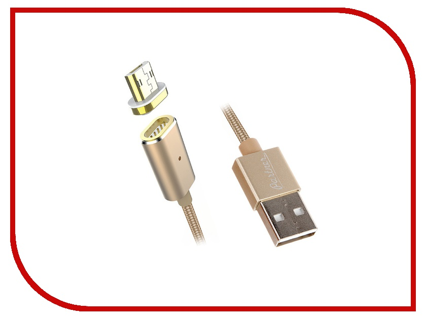 Аксессуар Partner USB 2.0 / microUSB 1.2m - магнитный кабель ПР033506<br>