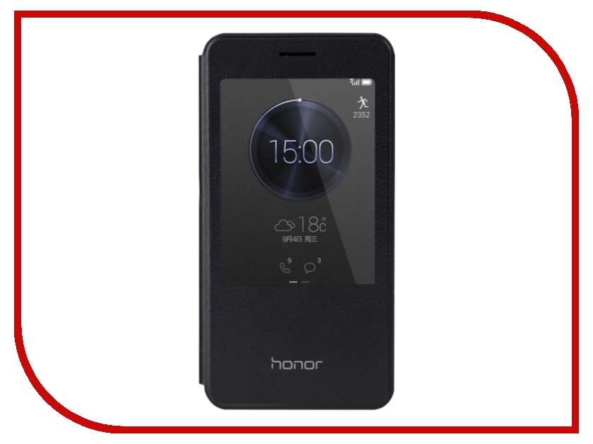Аксессуар Чехол Huawei Honor 4X Smart Cover Black HSCH4XB