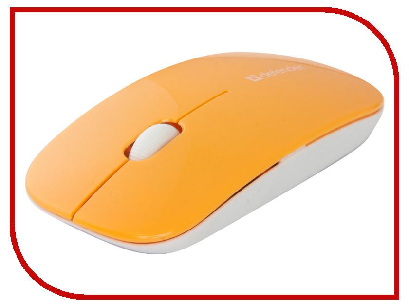 Мышь беспроводная Defender NetSprinter MM-545 Orange-White 52546