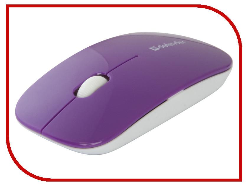 Мышь беспроводная Defender NetSprinter MM-545 Purple-White 52547