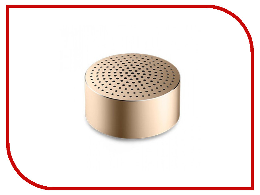 Колонка Xiaomi Mi Portable Round Box Gold lson round ndfeb magnets silver 10 pcs