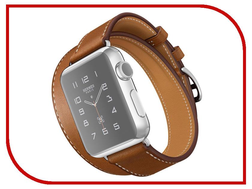 Аксессуар Комплект ремешков APPLE Watch 38mm ROCK Genuine Leather Watch Strap Brown<br>