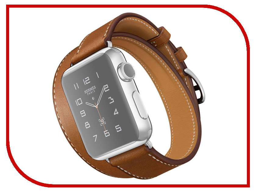 Аксессуар Комплект ремешков APPLE Watch 42mm ROCK Genuine Leather Watch Strap Brown<br>