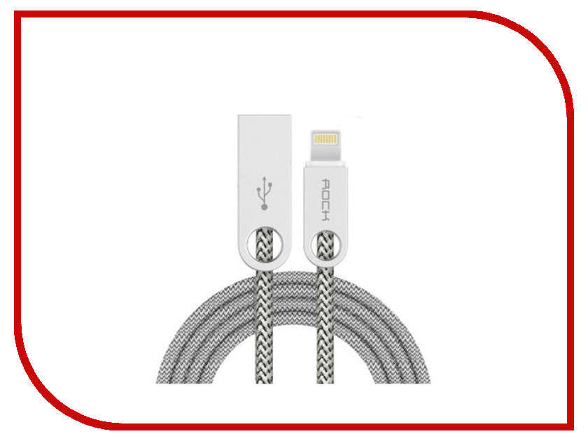 Аксессуар ROCK USB to Lightning Cobblestone Charge & Sync Round Cable Beige RCB0431