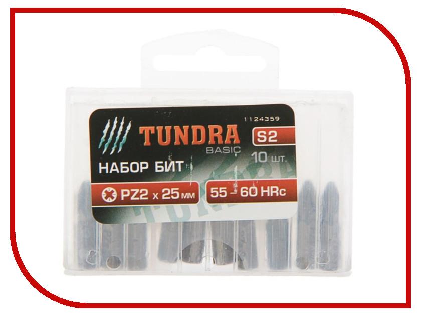 Бита Tundra PZ2x25mm 10шт 1124359 набор инструмента tundra basic 882076