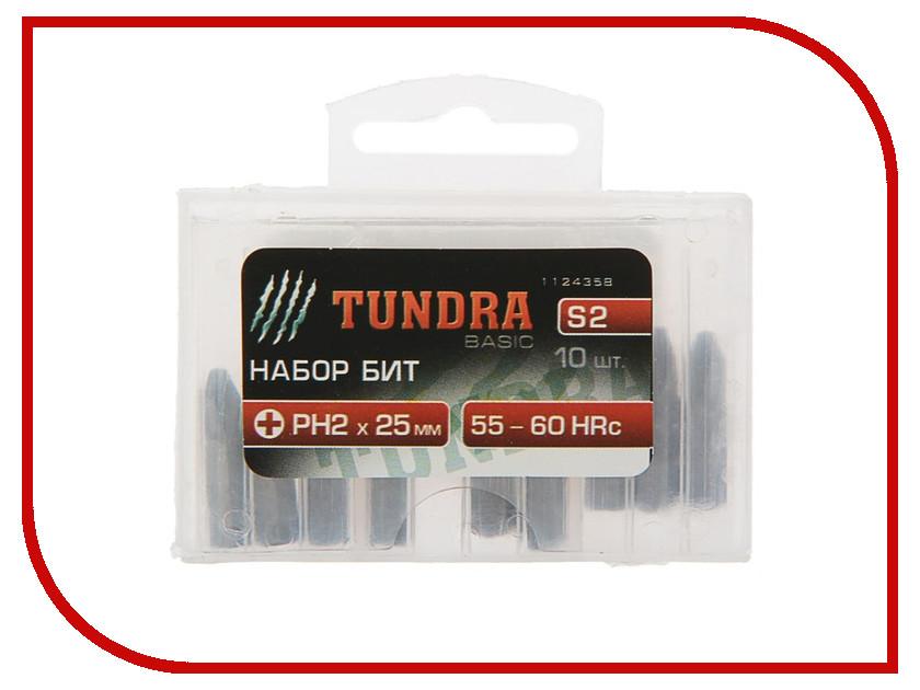 Набор бит Tundra PH2x25mm 10шт 1124358