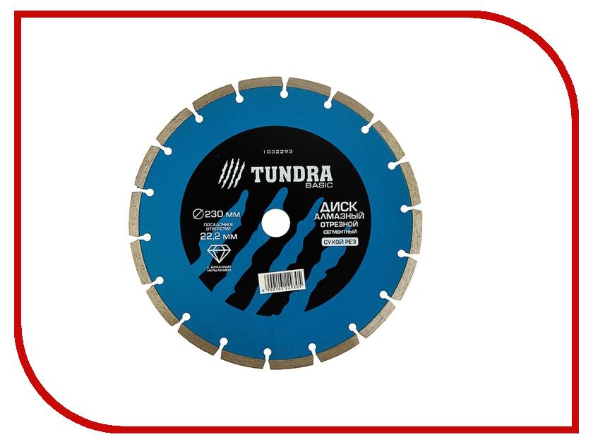 Диск Tundra 1032293 алмазный отрезной, по бетону, кирпичу, металлу, 230x22.2mm<br>